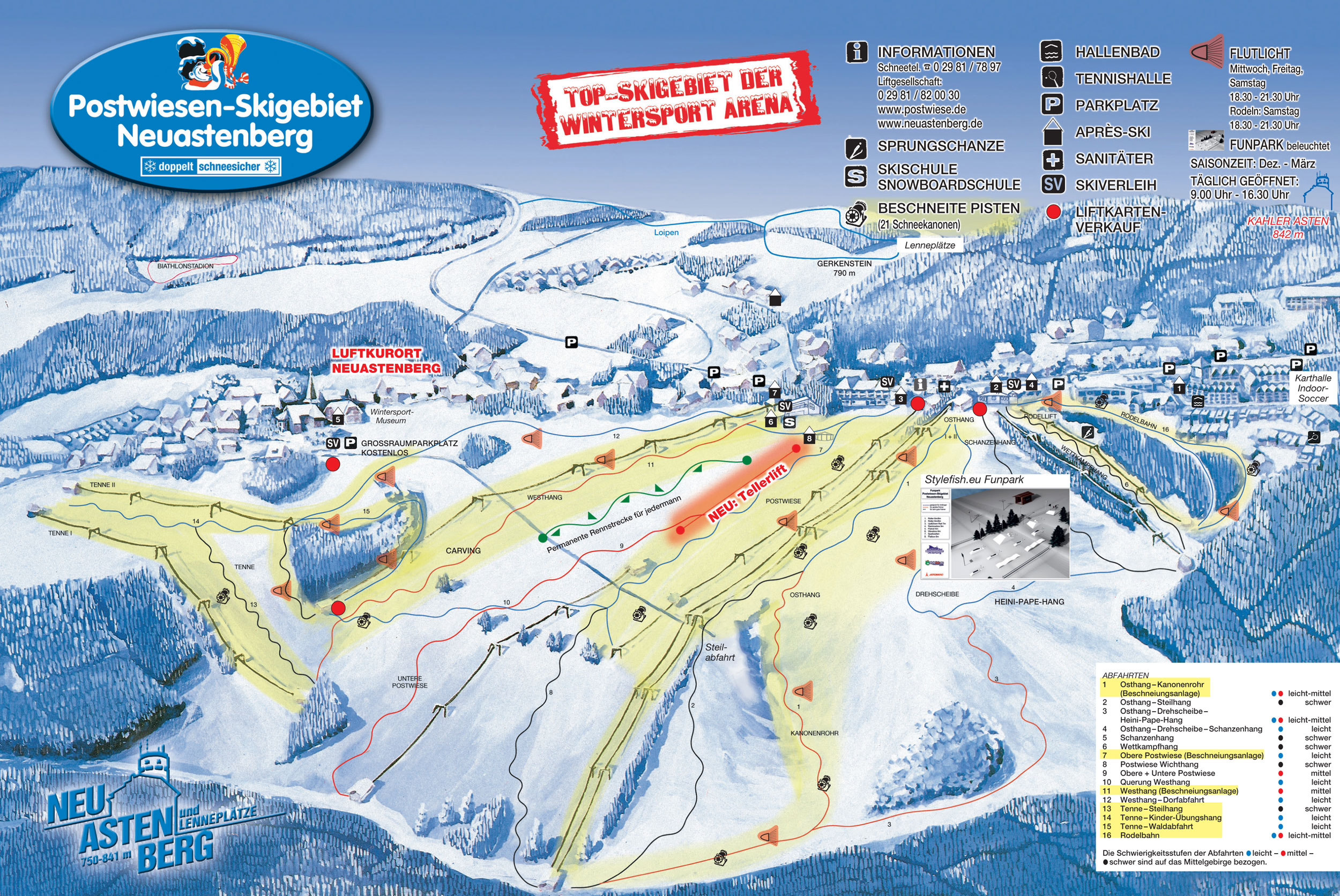 Ski Map Ferienwelt Winterberg Germany Citiestips Com